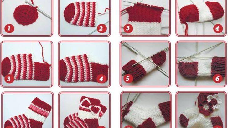 Yün İplikten Örgü Çorap Modelleri ve Yapılışı