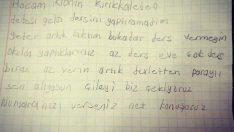 Veliden, çok ödev veren öğretmene not!