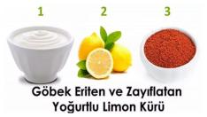 Göbek Eriten ve Zayıflatan Yoğurtlu Limon Kürü