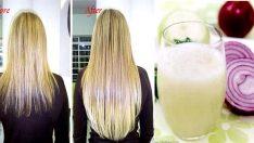 Soğan suyuyla saç nasıl uzatılır
