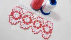 Kolay Halkalı Çiçek Motifli Havlu Kenarı Yapımı