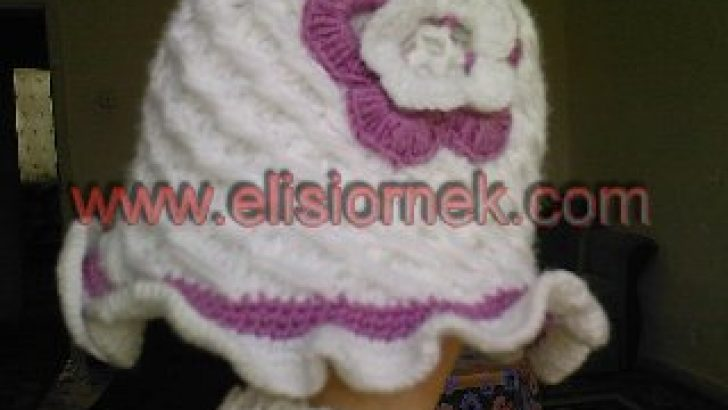 çiçek desenli şapka örneği
