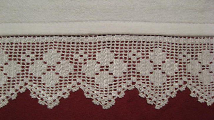 papatya modeli havlu kenarı örneği