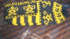 sarı larcivert bayan çetik modeli