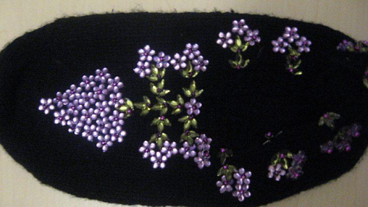 Leylak Çiçeği Modeli Bayan Patiği