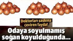 Odaya soyulmamış soğan koyduğunuzda…
