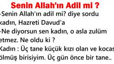 Senin Allah'ın Adil mi?