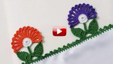 Çok Kollu Cicek Modeli İle Tığ  Oyasi Yapımı