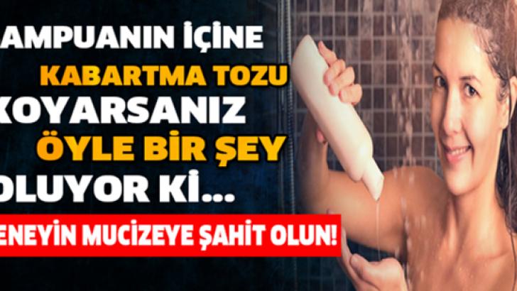 ŞAMPUANIN ÇİNE KABARTMA TOZU KOYARSANIZ BAKIN NE OLUYOR!
