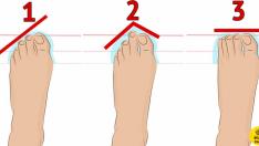Ayak parmaklarının şekline göre karakter analizi