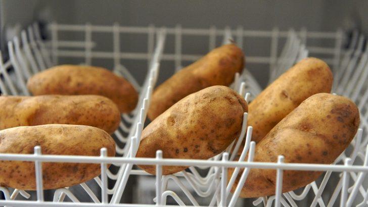 Patatesleri alın bulaşık makinesine atın çalıştırın bakın neler olacak!
