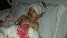 3 Yaşındaki kızına oyuncak makyaj seti aldı: Ertesi gün kızı bu hale geldi!