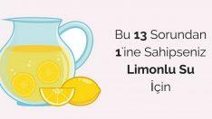 Her Gün 1 Bardak Limonlu Su İçince Vücudunuzda Bu 13 Değişiklik Meydana Geliyor