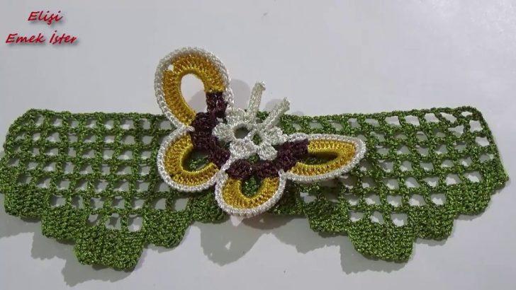 Kolay Kelebekli Havlu Kenarı Modeli Yapılışı