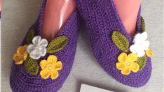 Kendimize veya genç kızlarımız için yapabileceğimiz hoş bir ev ayakkabı modeli