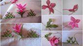 Yılbaşı Çiçeği İğne Oyası Yapım Aşamalı