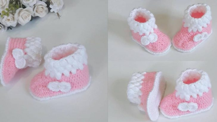 3-9 Aylık Bebekler İçin Bebek Patik Bot Yapılışı