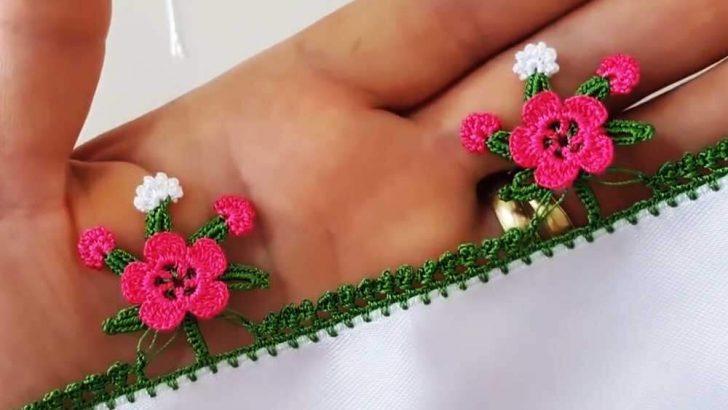 Tığ İşi Dal Üstünde Çiçek Oya Örneği Anlatımı