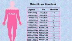 Kaç Kilodaysanız Ona Göre Su Tüketmek Zorundasınız